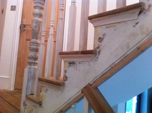 Angie stairs before