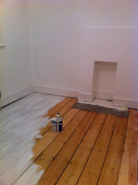 Ruth's bedroom floor before