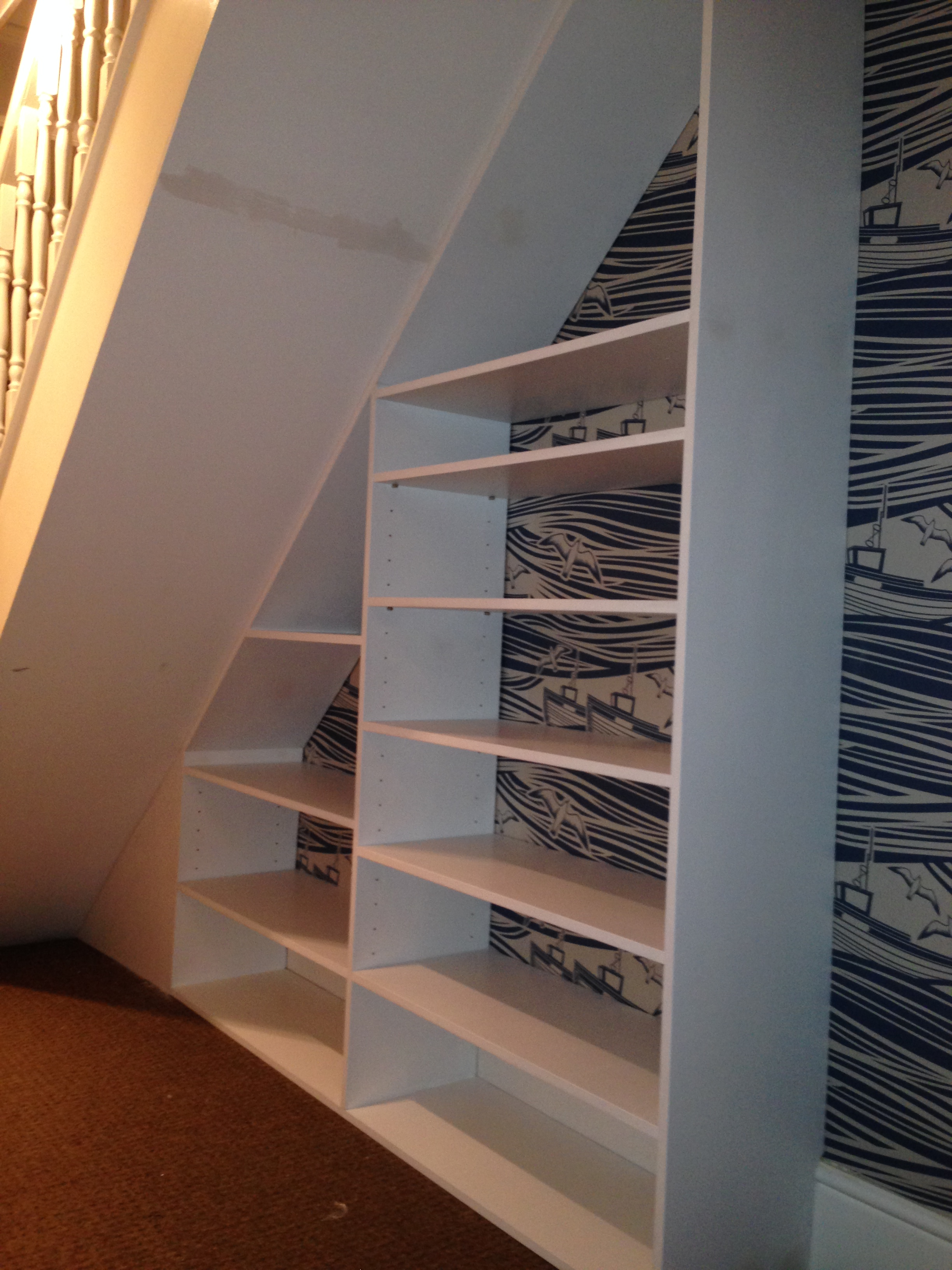 Bespoke Under Stairs Shelving: Bespoke Under Stair Shelving Unit, Whitstable, CT5